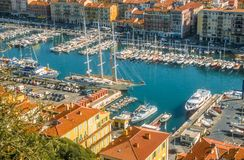 Old port of Nice Stock Images
