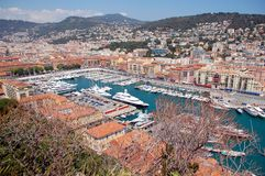 Old port of Nice, France. General view Royalty Free Stock Image