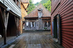 Old Port Quarter Bryggen, Bergen Royalty Free Stock Photo