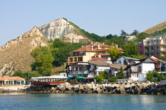 Old port quay in Balchik Stock Images