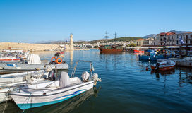 Old port of Rethimno town on Crete island, Greece Royalty Free Stock Image