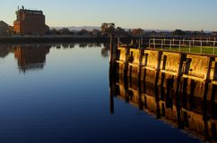 Old Port River Reflection Stock Photography