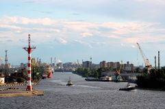Old port of Saint-Petersburg, Russia Royalty Free Stock Photo