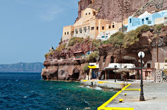 Old port at Santorini island in Greece Stock Photography