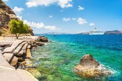 Old port of Santorini island, Greece Stock Image