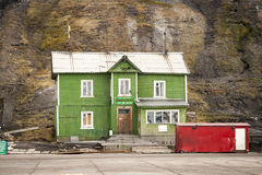 Old port sea office in Barentsburg, Svalbard Stock Photography