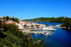 Old Port, Skiathos, Greece. Royalty Free Stock Photography