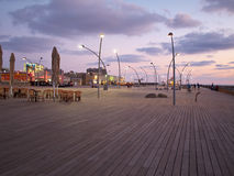 The old port of Tel Aviv Israel wooden deck Royalty Free Stock Image