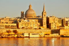 Old town of Valetta, Malta Stock Images