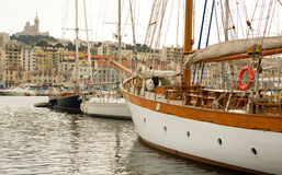 Old port (Vieux Port) in Marseille Stock Image