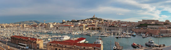 Old Port, Vieux-Port of Marseille. Royalty Free Stock Image