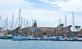 Alghero port royalty free stock image