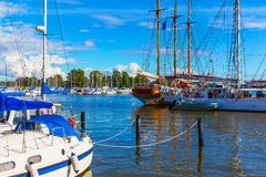 Old Port and yacht marina in Helsinki, Finland Stock Photos