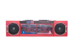 Old portable cassette player Royalty Free Stock Images