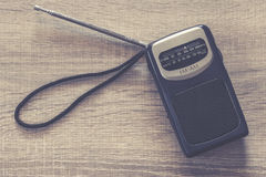 Old portable transistor radio Royalty Free Stock Images
