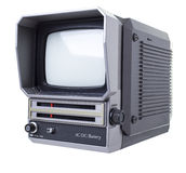 Old portable TV Royalty Free Stock Images