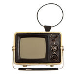 Old portable tv receiver Stock Photos