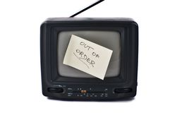 Old portable TV set Royalty Free Stock Photos