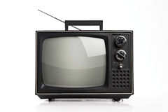 Old portable TV Stock Image