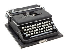 Old portable typewriter Royalty Free Stock Image