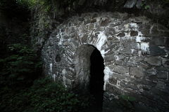 Old portal of the castle cellar Royalty Free Stock Image