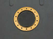 Old porthole Stock Photo