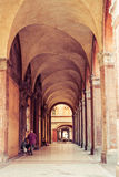 Old portico in Bologna, Italy Royalty Free Stock Photos