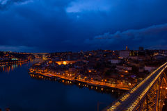 Old Porto at night, Portugal Royalty Free Stock Photography