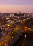 Old Porto at sunset, Portugal Royalty Free Stock Photography
