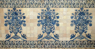Old portugal blue tile Royalty Free Stock Images
