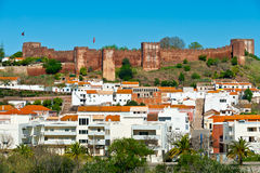 Old Portugese fortress dominating town Royalty Free Stock Image