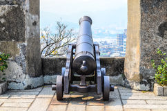 Old Portuguese cannon in Guia Fortress Guia Hill Royalty Free Stock Photos