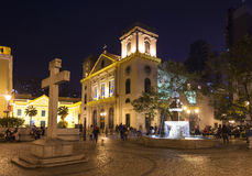 Old portuguese colonial church in macau macao china Stock Photography