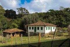 Old Portuguese colonial house in the city of Goncalves  - Brazil Royalty Free Stock Photos
