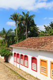 Old portuguese colonial houses in downtown of Paraty, Brazil Royalty Free Stock Photo