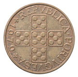 Old Portuguese escudo coin Royalty Free Stock Photo