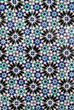 Old Portuguese tiles. Detailed pattern of old Portuguese ceramic tiles royalty free stock images