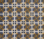 Old Portuguese tiles. Detailed pattern of old Portuguese ceramic tiles stock image