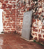 Old Portuguese tombstones in St. Paul`s Church is a historic church building in Melaka, Malaysia. Old Portuguese tombstones in St. Paul`s Church is a historic Royalty Free Stock Photography
