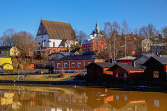 Old Porvoo - the medieval town in Finland Stock Image