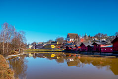 Old Porvoo - the medieval town in Finland Stock Photos