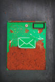 Old post box. On the wall Stock Photography