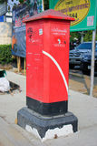 Old Post box of Thailand Post. CHIANGMAI , THAILAND - APRIL 20 2014: An unidentified Old Post box of Thailand Post. Location on Chiangmai Bus station.  Photo at Royalty Free Stock Photo