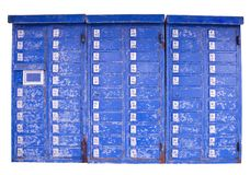 Old post boxes Royalty Free Stock Images