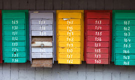Old post boxes Royalty Free Stock Photography