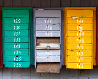 Old post boxes Royalty Free Stock Photo