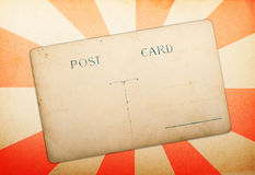 Old post card on vintage rays paper Royalty Free Stock Images
