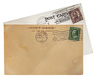 Old Post Cards Royalty Free Stock Photography