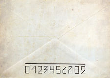 Old post envelope background Royalty Free Stock Images
