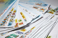 Old post envelopes Stock Image